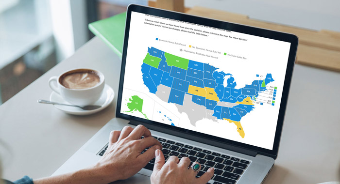 State Sales Tax Map