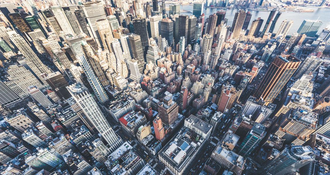 Overhead view of new york city