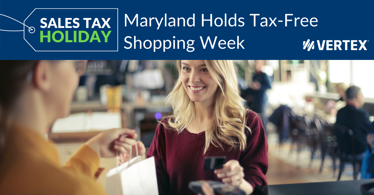 Maryland will hold its annual sales tax holiday August 9-15, 2020. During this time, eligible clothing, footwear and accessories are exempt from Maryland's 6% state sales tax rate.