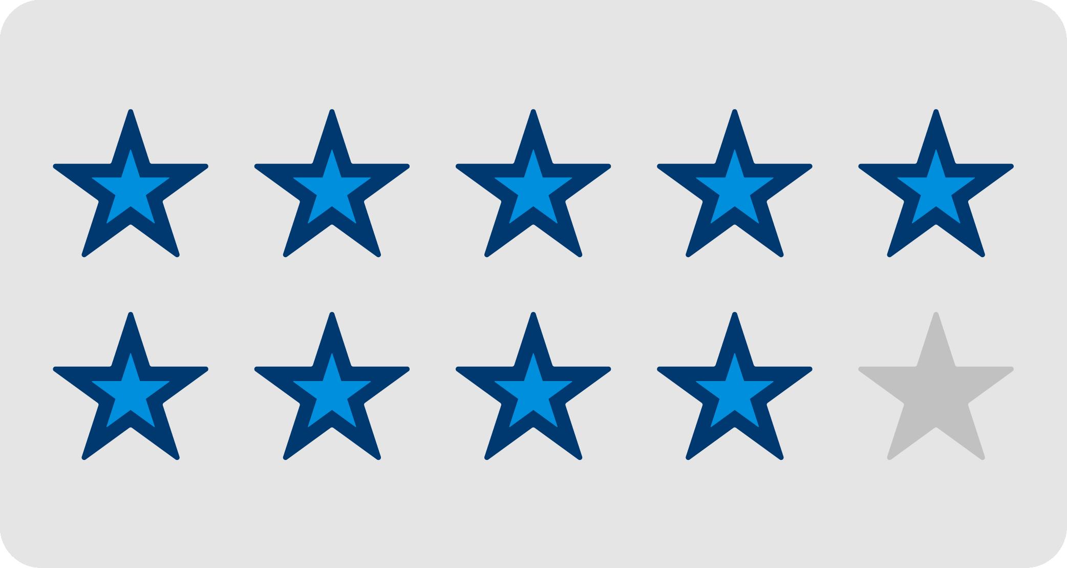 9/10 stars filled in