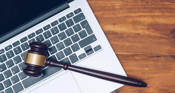 Tax Gavel Laptop
