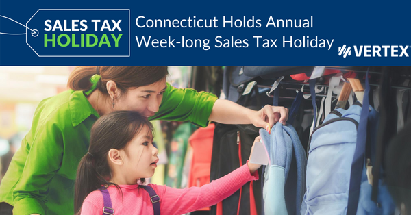 Connecticut will hold a sales tax holiday in 2020.