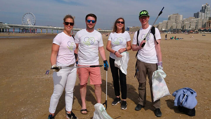 Beach clean up day