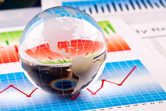 Glass Globa and Charts