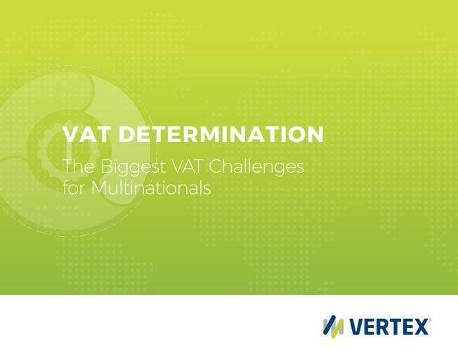 VAT Determination eBook